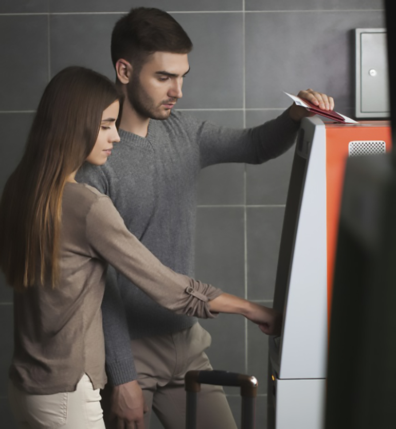 couple at ATM