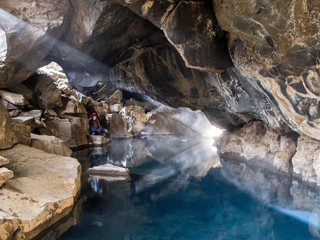 Grjótagjá Cave, Iceland.