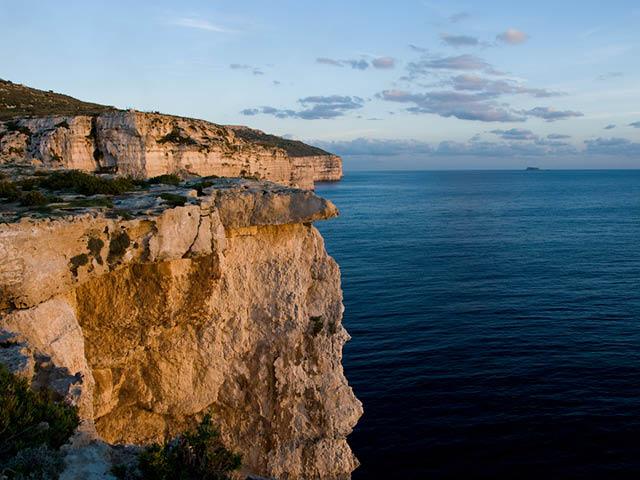 Cliffs of Mtahleb, Malta.