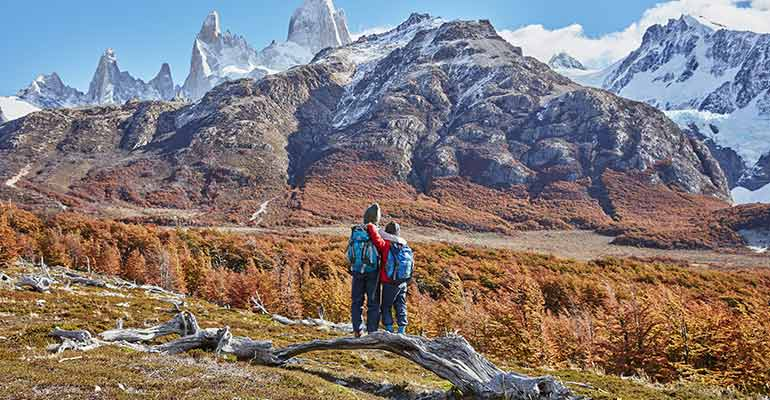 Couple in Patagonia