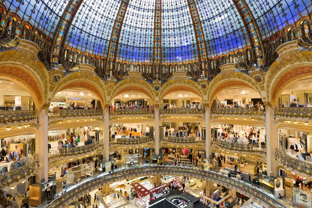 Shopping mall in Paris