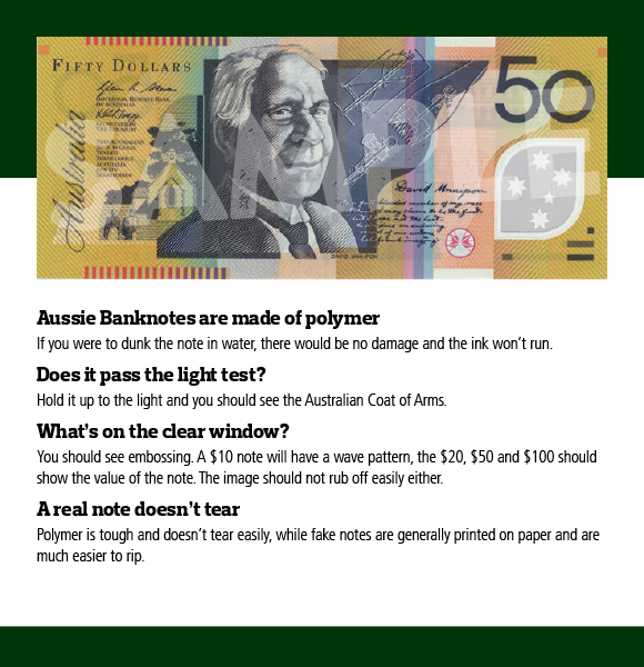 How to Spot a Fake Aussie Dollar Banknote