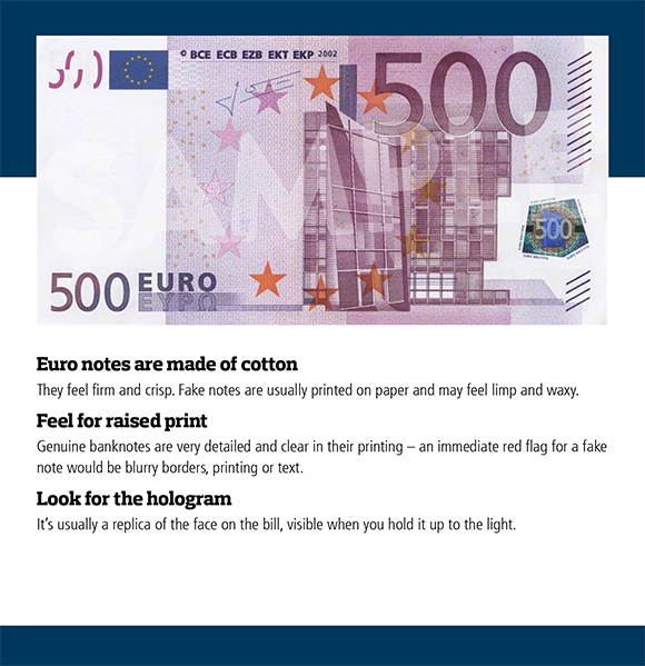 How to Spot a Fake Euro Banknote