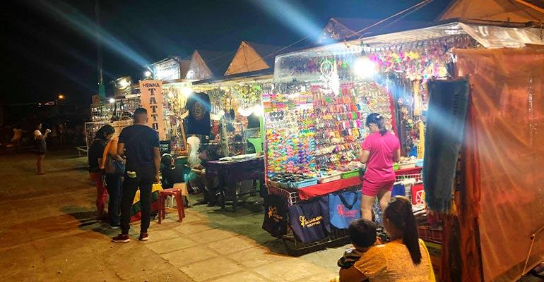 Street market in Asia