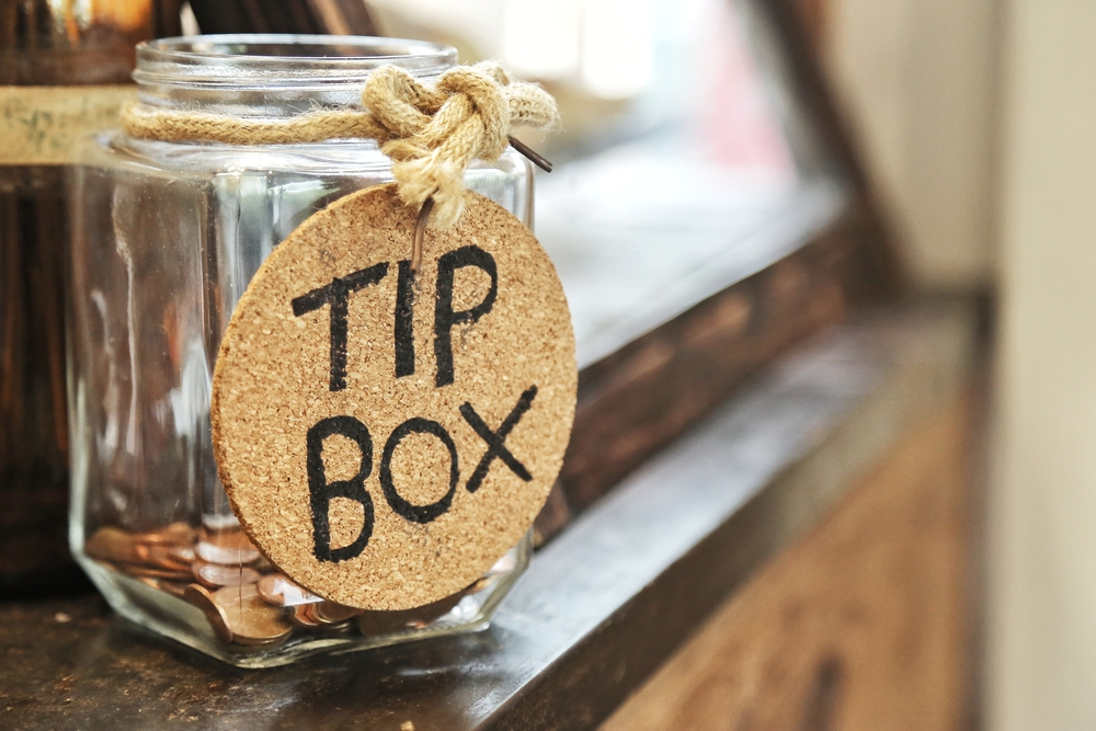 Tip jar