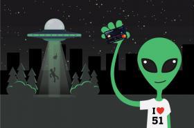 Alien holding Cash Passport