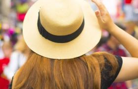Woman at overseas markets