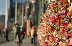 Love locks on a bridge